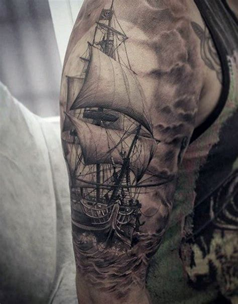 Ship Tattoo by Ships Wheel Tattoo For Men Tattoos Good And Bad