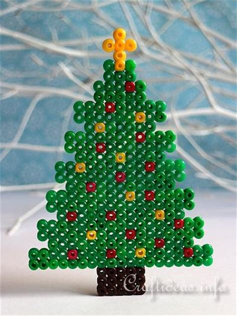 christmas craft  kids fuse bead christmas tree