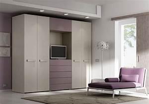 Kleiderschrank Mit Fernseher : kleiderschrank mit 4 t ren schubladen und platz f r tv idfdesign ~ Sanjose-hotels-ca.com Haus und Dekorationen