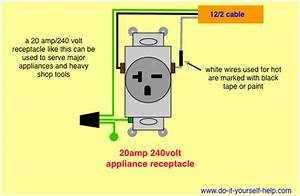 Wiring Diagram For A 20 Amp 240 Volt Receptacle Wiring Diagram