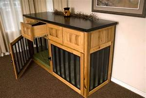 built in dog crate buffet table dog eat world With dog crate buffet table