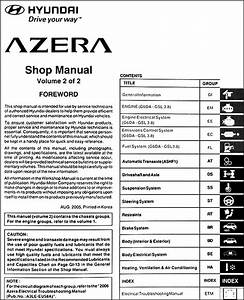 2006 Hyundai Azera Repair Shop Manual 2 Volume Set Original