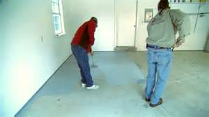 garage floor paint sealant how to seal and paint a garage floor today s homeowner video channel