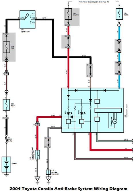 Wiring Diagrams Toyota Corolla Anti Brake System