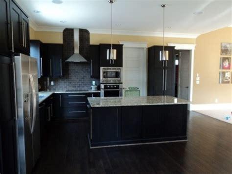 kitchen floor ideas with dark cabinets contemporary kitchen espresso cabinets dark floor and