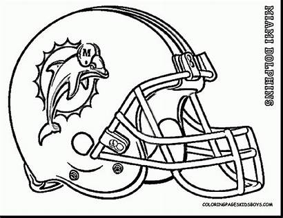 Coloring Pages Football Dolphins Helmet Miami Nfl