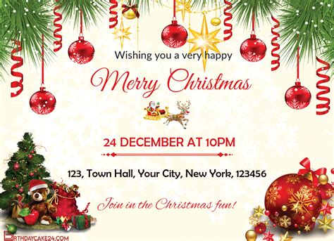 Customize Your Own Christmas Invitation Card