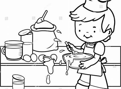 Coloring Kitchen Utensils Cooking Pages Tools Printable