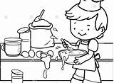 Coloring Kitchen Utensils Cooking Pages Tools Printable Mother Getcolorings sketch template