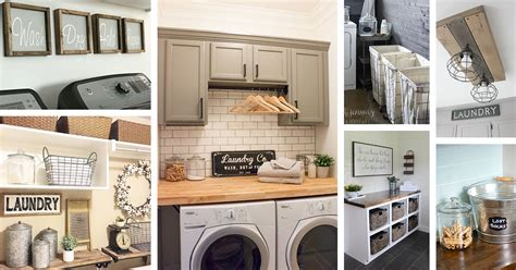 Decorating Ideas For Laundry Rooms by 34 Best Farmhouse Laundry Room Decor Ideas And Designs For