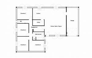 plan maison 4 chambres 100 m With plan de maison avec 4 chambres