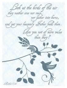 Matthew Bible Verse Birds