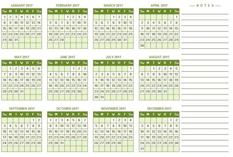 calendar template full year 2017 full year calendar excel templates for every purpose