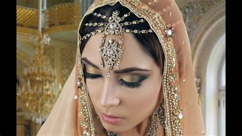 gold black smokey eye tutorial indian arabic asian bridal   wedding walima reception