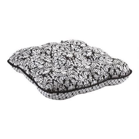 waverly 174 black white reversible chair cushion