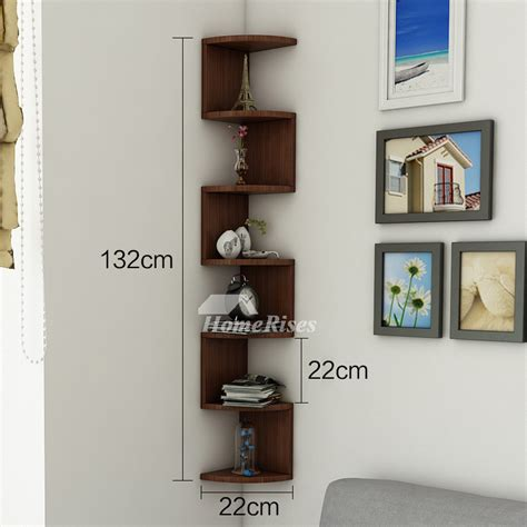 Decorative Wall Shelves For Living Room by Corner Wall Shelf Wooden Decorative Creative Living Room