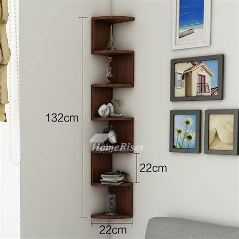 corner wall shelf wooden decorative creative living room book design