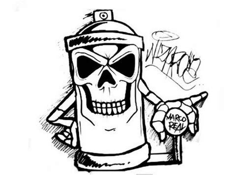 Drawing a skull spraycan characters by CHOLOWIZ YouTube