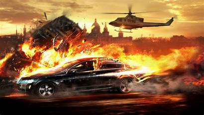 Explosion Fire Wallpapers Background Cars Desktop Vehicle