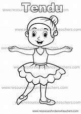Colouring Dance Preschool Coloring Ballet Value Pack Teacher Printable Visit Resources sketch template