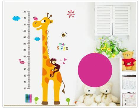muursticker groeimeter giraf muurstickers babykamer