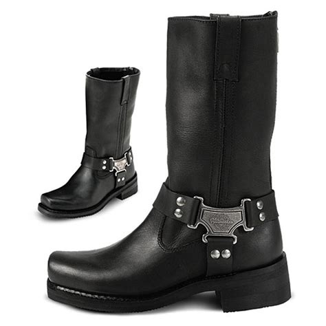 classic biker boots women 39 s milwaukee 10 quot classic harness boots black