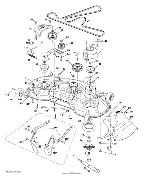 Deck Part Diagram by Husqvarna Yth23v48 96043009600 2012 02 Parts Diagram