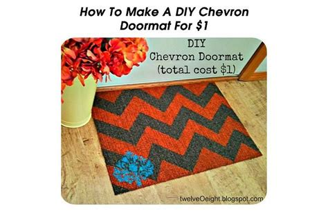 Make A Doormat by How To Make A Diy Chevron Doormat For 1
