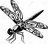Dragonfly Outline Vector Vinyl Cutting Clipart Ready Clipartion sketch template