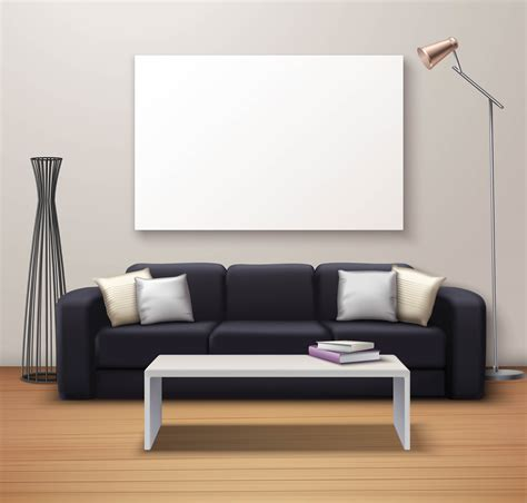 Just upload your design and watch it come to life in context! Modern Interior Mockup Realistic Poster - Download Free Vectors, Clipart Graphics & Vector Art