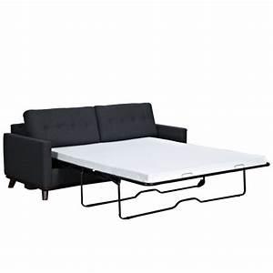 Canapé Lit Deux Places : canap lit deux personnes en tissu sofa lit trois places ~ Melissatoandfro.com Idées de Décoration