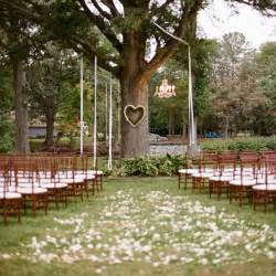 simple wedding ceremony a simple ceremony a tree the shaped wreath detail photo by abby jiu