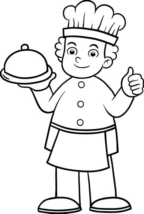 cuisiner en ligne coloriage cuisinier a imprimer gratuit à colorier dessin