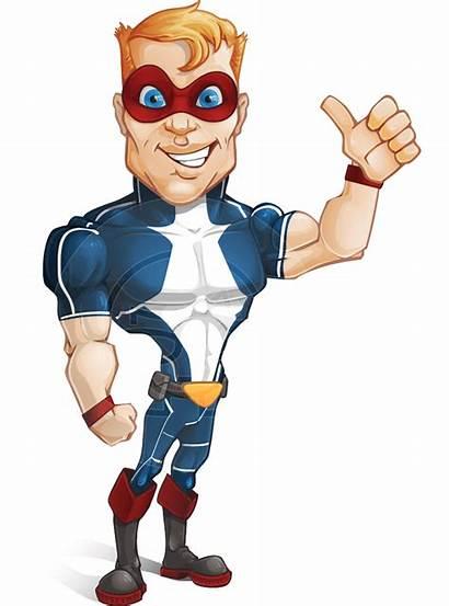 Superhero Hero Strong Clipart Cartoon Buff Transparent
