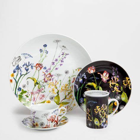service 192 petit d 201 jeuner fleurs porcelaine vaisselle table zara home veille