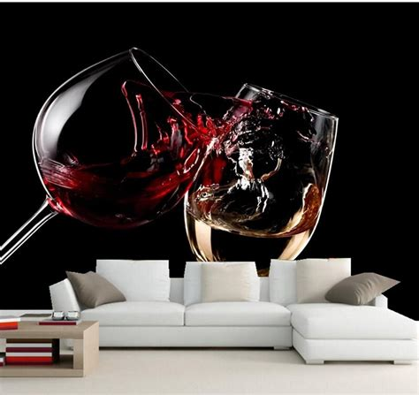custom wallpaper  walls ddrinks wine stemware food