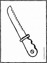 Knife Bread Colouring Kiddicolour Drawing sketch template