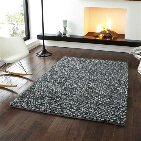 large grey rug pebbles wool shaggy rugs in grey free uk delivery the