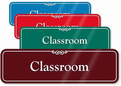 Classroom Signs Sign Door Wall