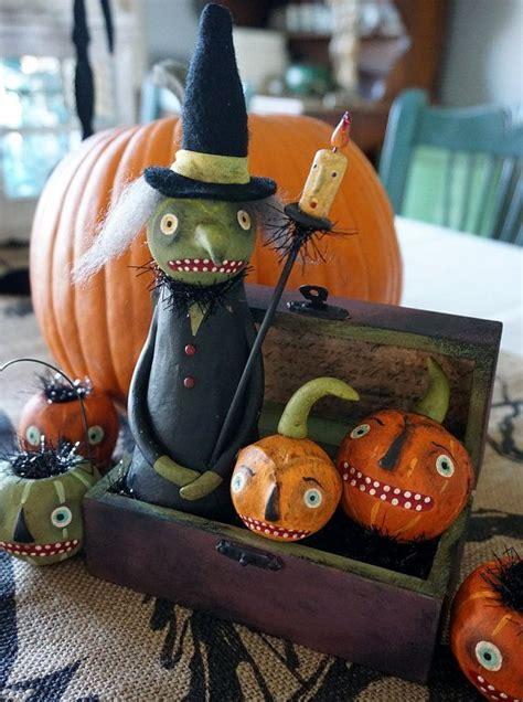 reserved  darren halloween folk art witch vintage style halloween decoration