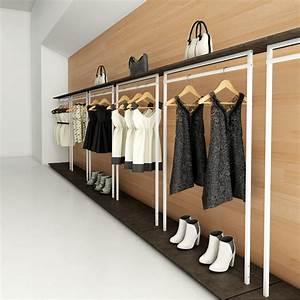 Portant Vetement Blanc : portant professionnel en bois personnalisable design ~ Teatrodelosmanantiales.com Idées de Décoration