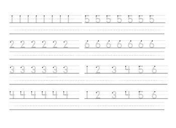 basic handwriting practice worksheet 1 6 zaner bloser by