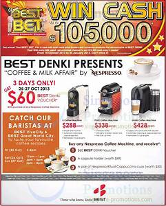 Machine Nespresso Promo : nespresso coffee machines promo best denki tv ~ Dode.kayakingforconservation.com Idées de Décoration