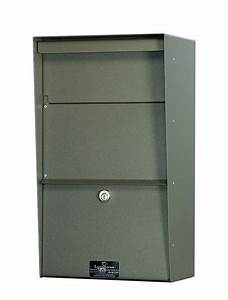 Large locking wall mounted mailbox best selling security for Lock box with slot for documents