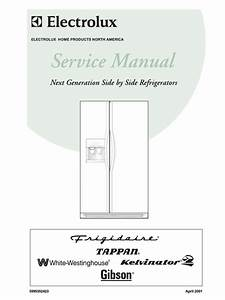 Frigidaire Refrigerator Sxs 2001 Next Gen Service Manual