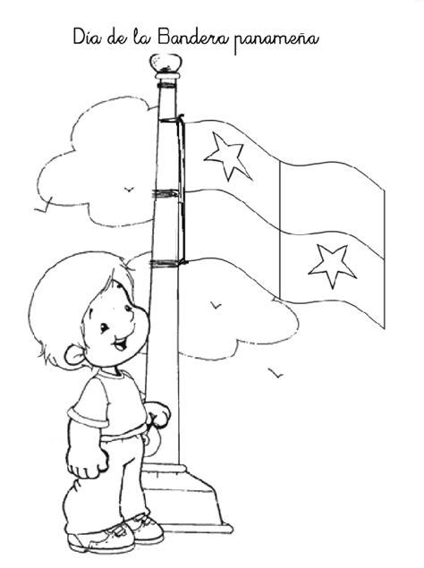 dibujos del  de la bandera de panama  pintar