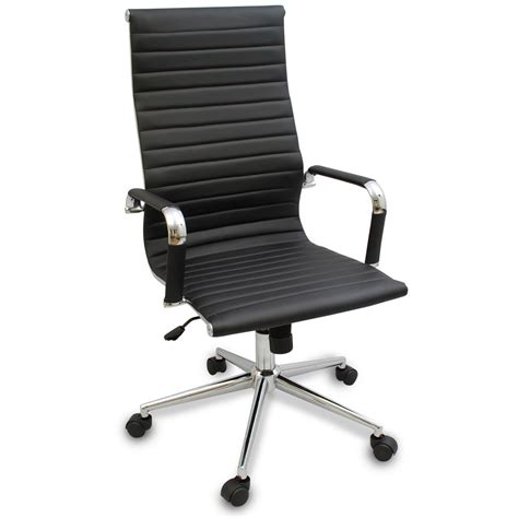 modern ergonomic desk chair new black modern ergonomic ribbed high back executive