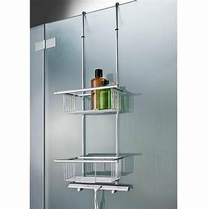 etagere suspendue ou porte serviettes pas cher pro idee With porte gel douche mural