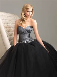 A variety of dresses: Black prom dress ball gown
