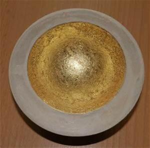 Blattgold Anlegemilch Anleitung : betonschale mit gold gestalten basteln rund ums jahr ~ Lizthompson.info Haus und Dekorationen